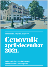 Cenovnik April-Decembar 2021. - Zepter Hotel Vrnjačka Banja