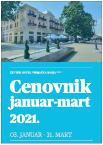 Cenovnik Hotelski usluga Vrnjačka Banja 2021
